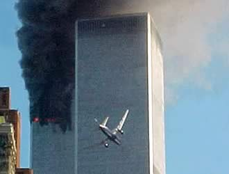 The second plane hitting the South Tower