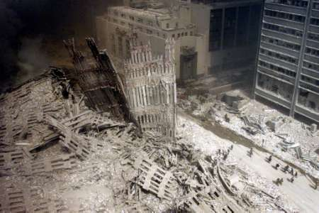 After the collapse of the towers